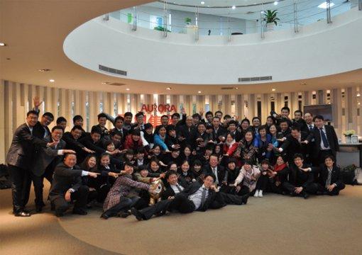 震旦家具2012年第一梯经销营业设计培训合影