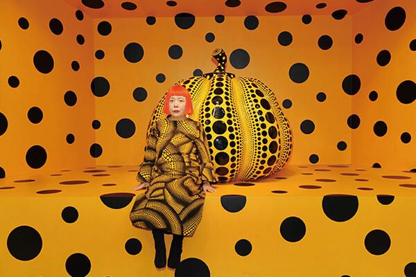 圆点南瓜,是草间弥生最富盛名的创作主题之一。