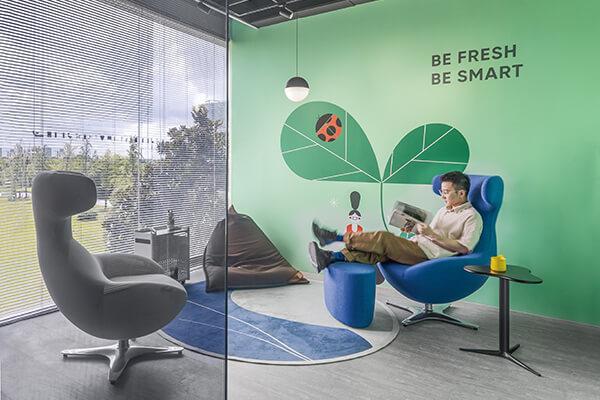 理想的办公空间,可营造出「家」的舒适感。